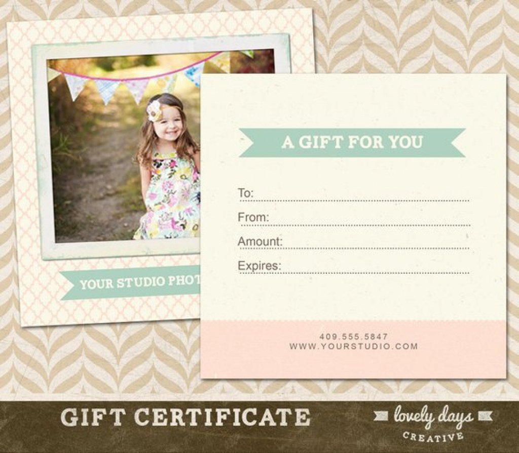 Free Printable Photography Gift Certificate Template Photography - Free Printable Photography Gift Certificate Template