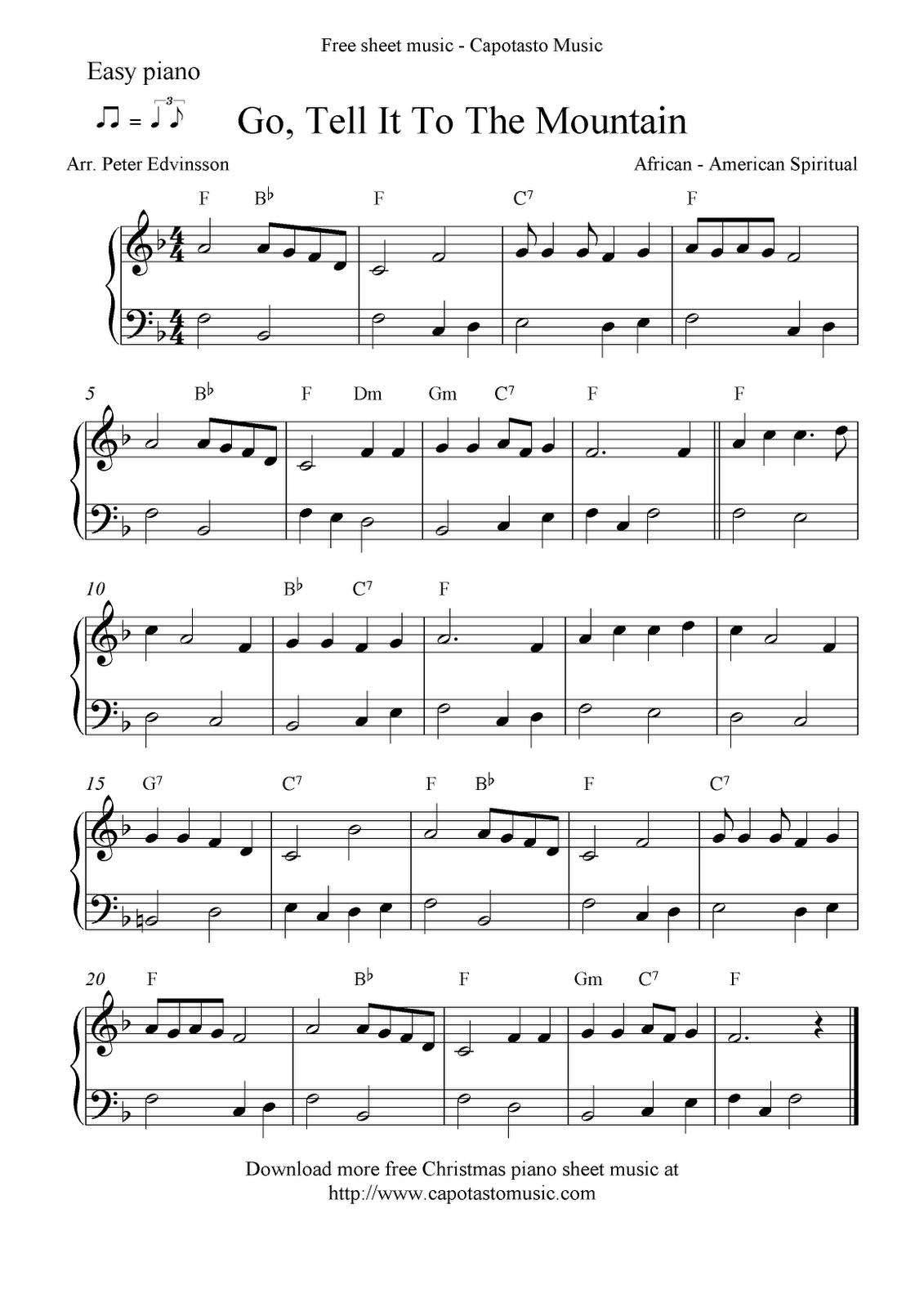 Free Printable Piano Sheet Music   Free Sheet Music Scores: Easy - Christmas Piano Sheet Music Easy Free Printable