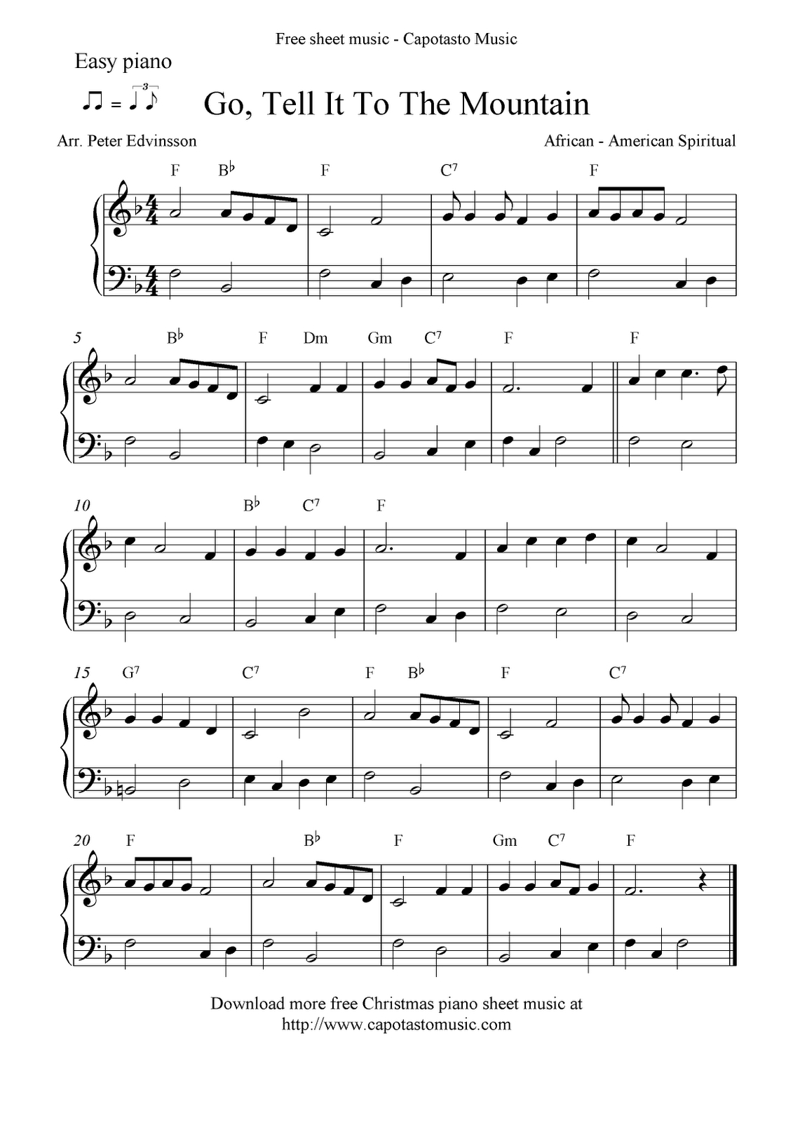 Free Printable Piano Sheet Music | Free Sheet Music Scores: Easy - Free Printable Piano Pieces