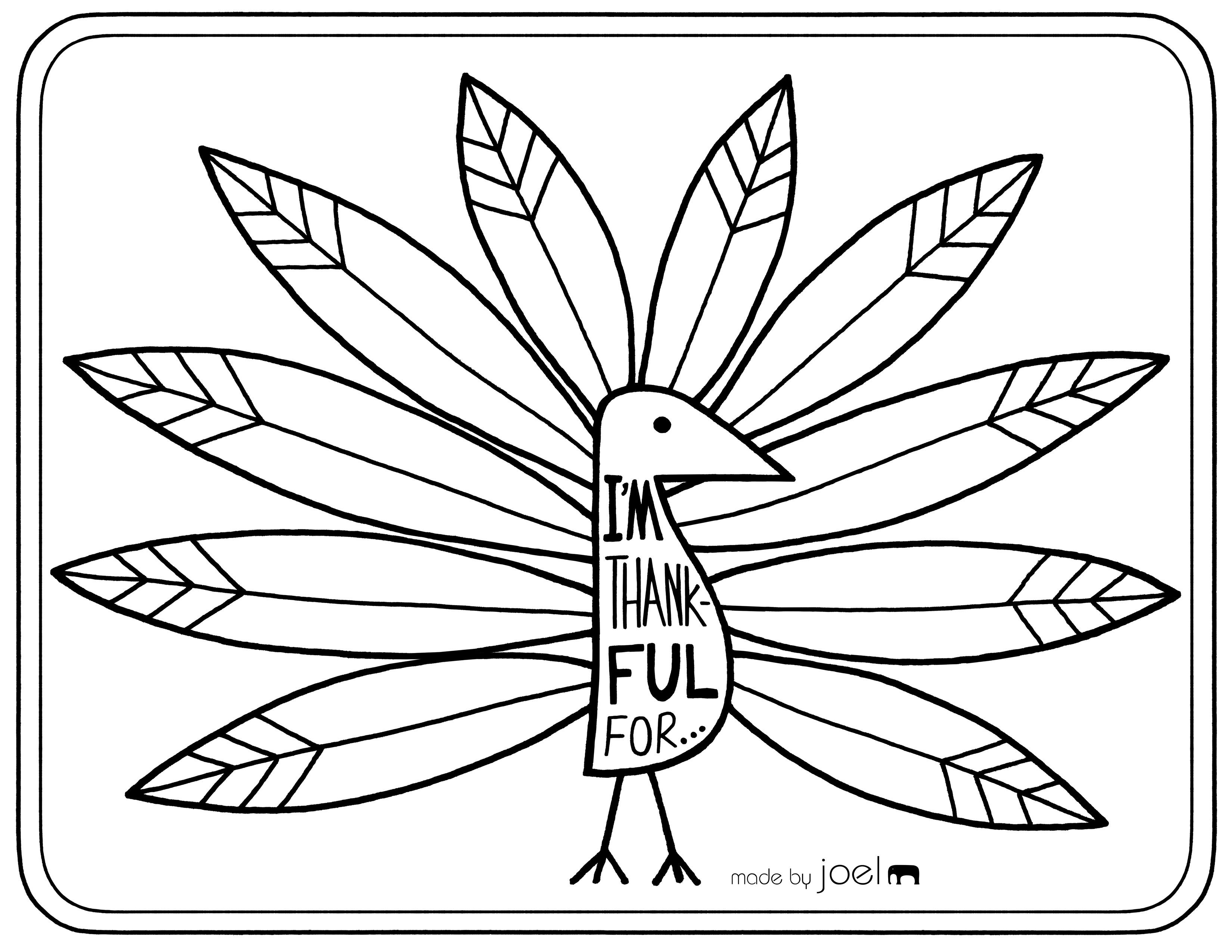 Free Printable Placemat For Giving Thanks | Fall Crafts & Ideas - Free Printable Thanksgiving Coloring Placemats