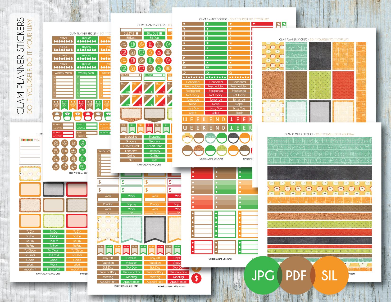 Free Printable Planner Stickers – Planner Addiction - Printable Erin Condren Stickers Free