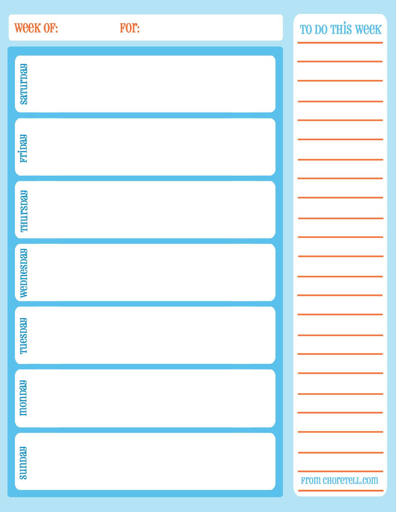 Free Printable Planner Weekly Minute Intervals Monthly Pdf Schedule - Free Printable Schedule