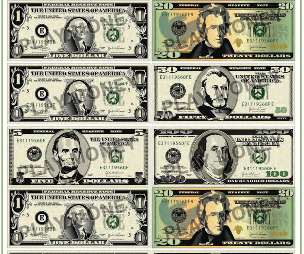 Free Printable Play Money - Familyeducation - Free Printable 100 Dollar Bill