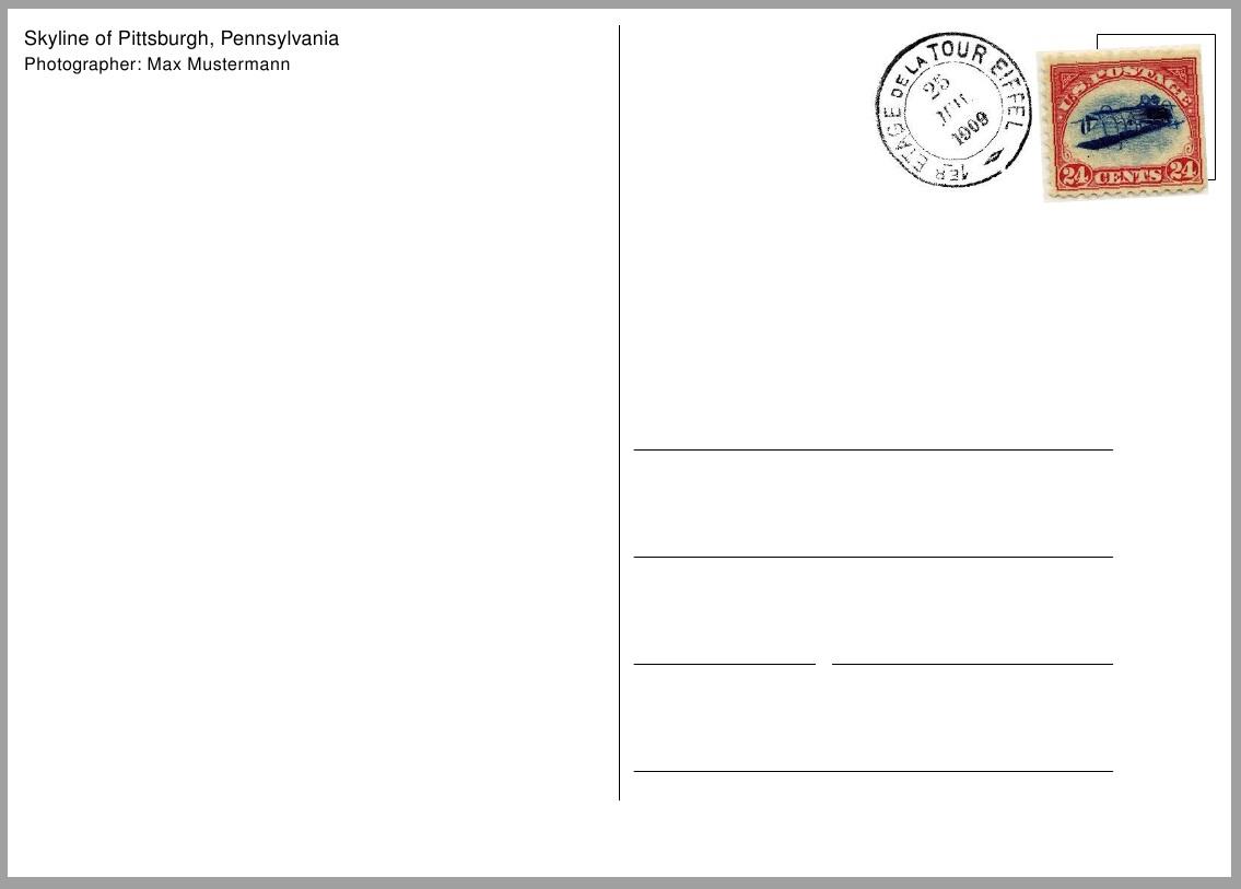Free Printable Postcard Template Sample   Get Sniffer - Free Printable Postcard Template