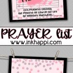 Free Printable Prayer List! Never Doubt The Power Of Prayer   Free Printable Prayer List