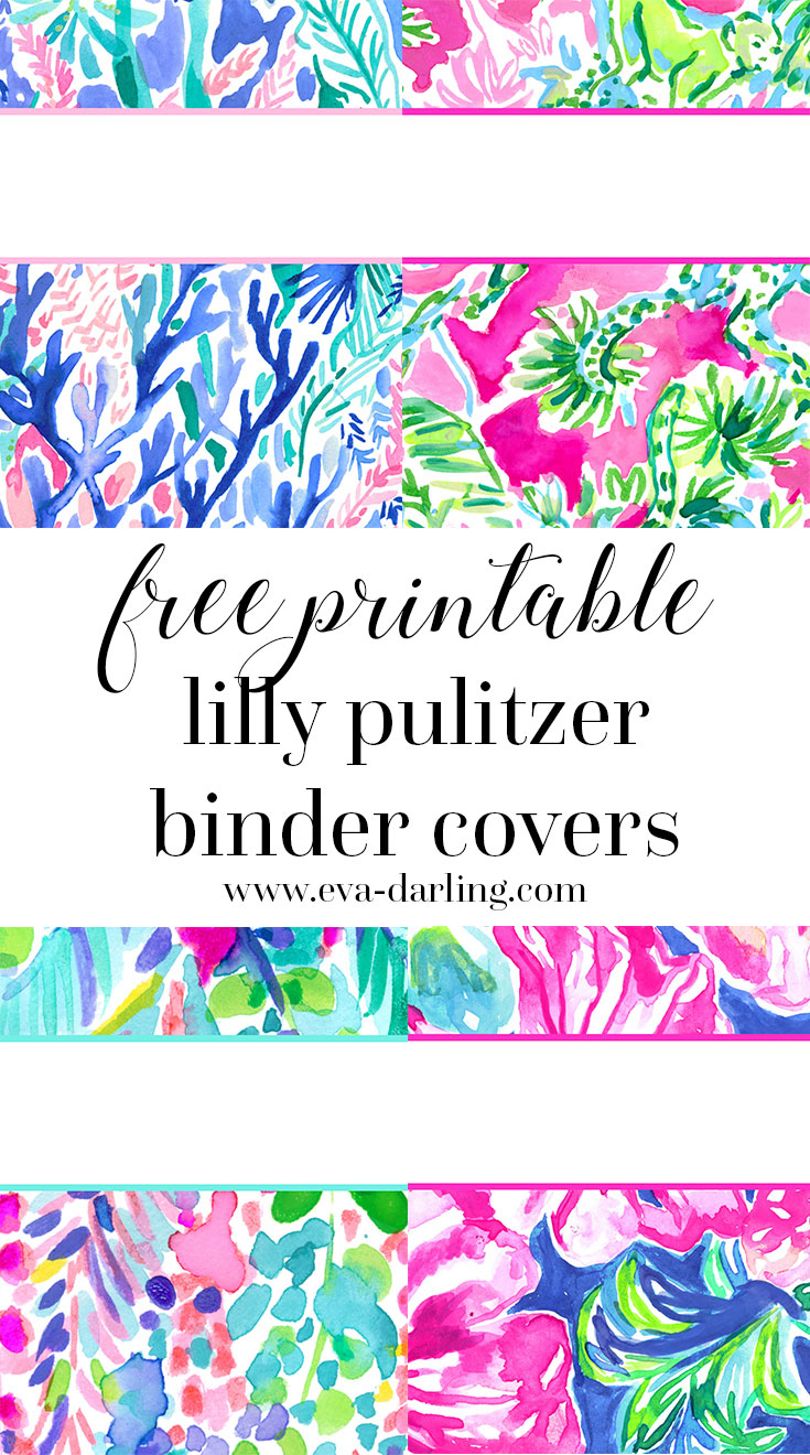 Free Printable Preppy Lilly Pulitzer Binder Covers - Free Printable Customizable Binder Covers