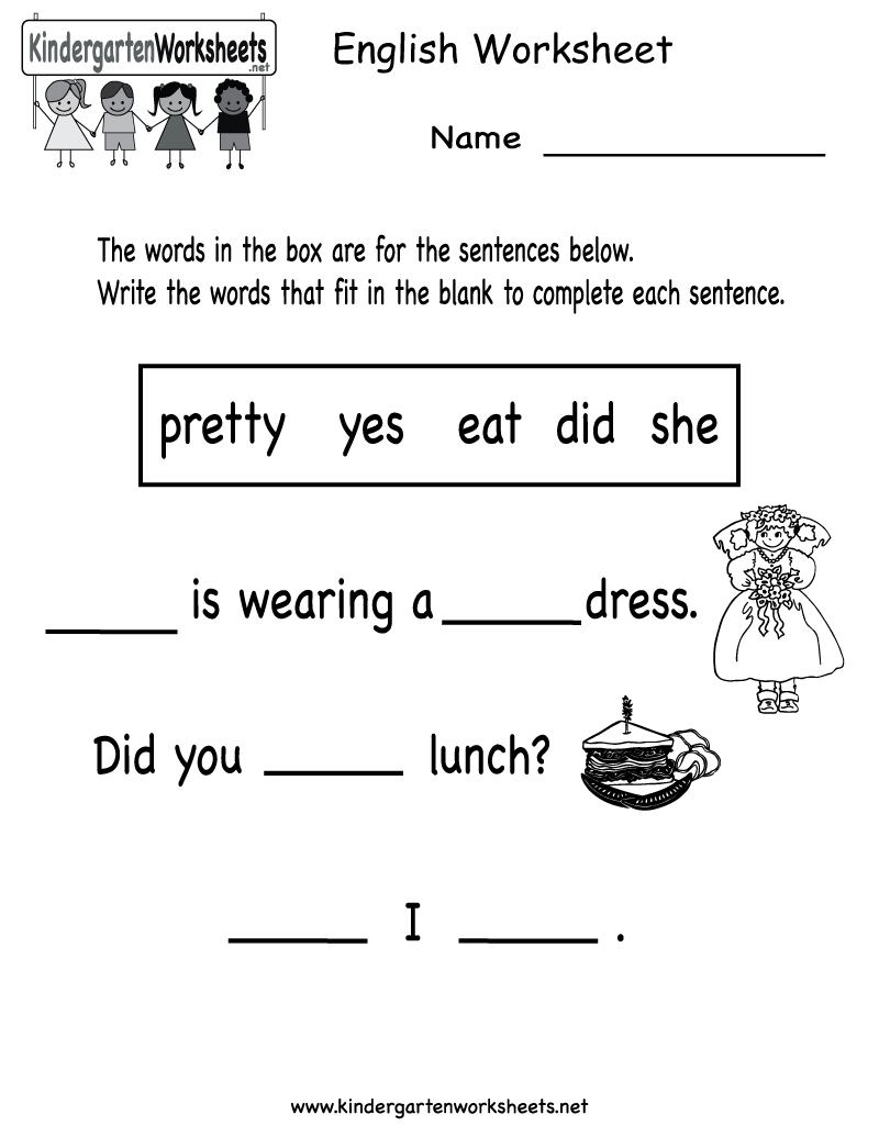 Free Printable Preshool Worksheets | Free Printable English - Free Printable Ela Worksheets