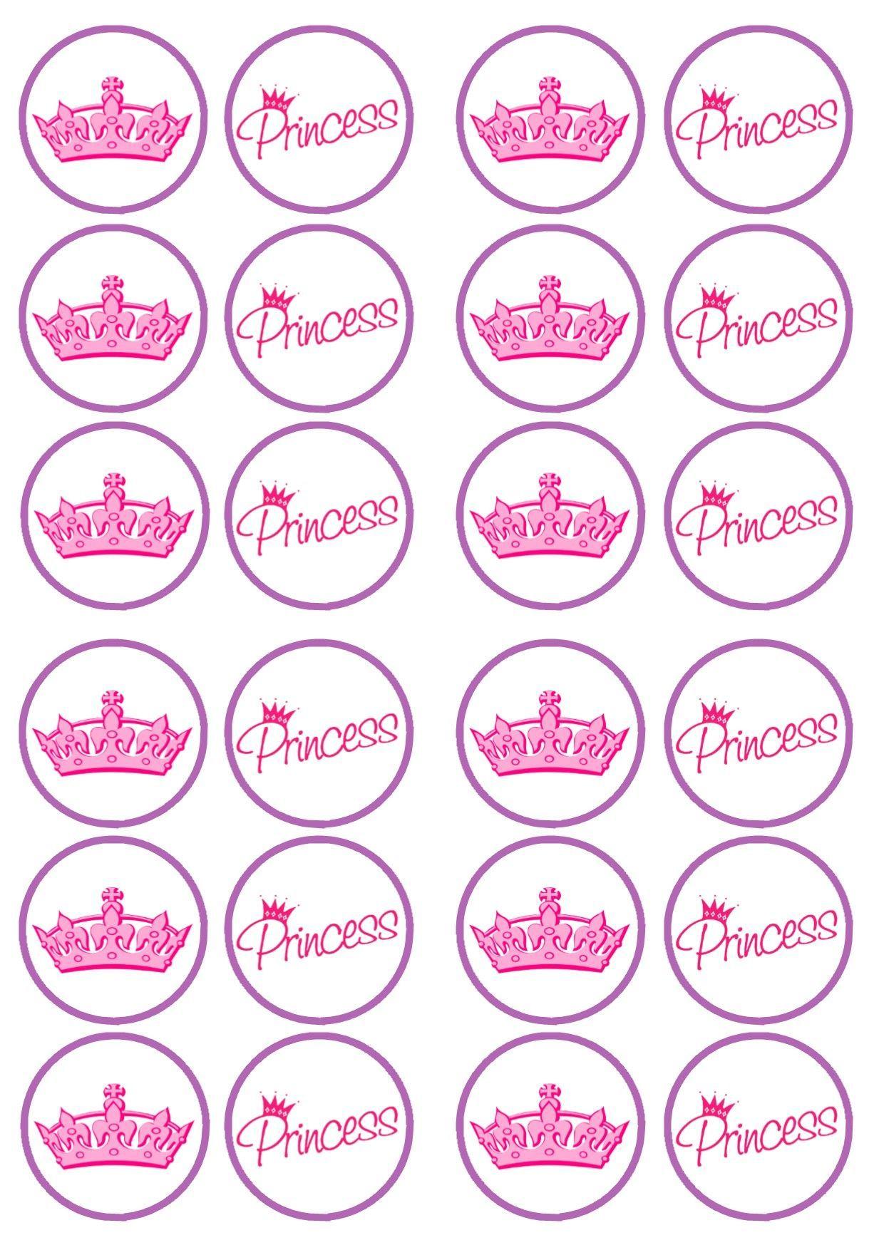 Free Printable Princess Birthday Cupcake Toppers | Princess - Free Printable Barbie Cupcake Toppers