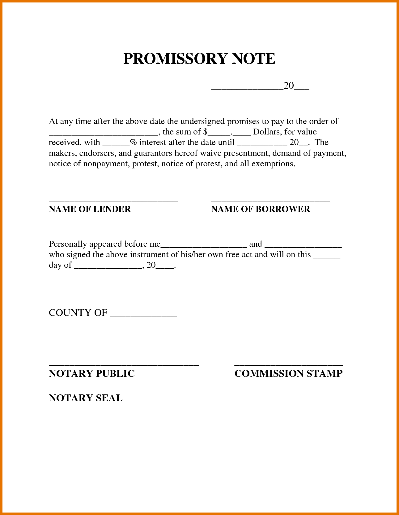 Free Printable Promissory Note Template : Violeet - Free Printable Promissory Note Template