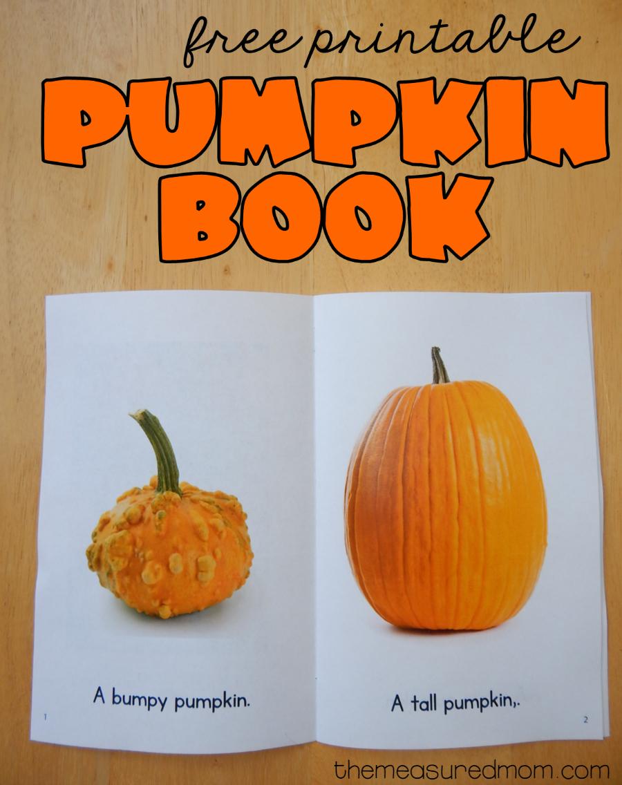 Free Printable Pumpkin Book   Best Of The Measured Mom   Preschool - Free Printable Pumpkin Books