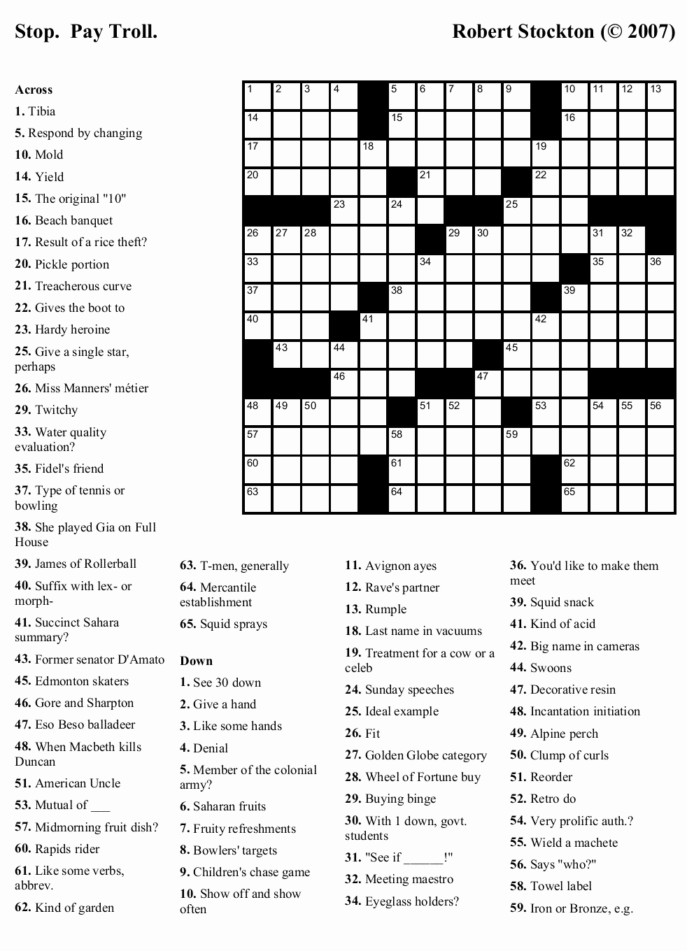 Free Printable Puzzles Or Newspaper Printable Crossword Puzzles - Free Printable Crossword Puzzles For Adults