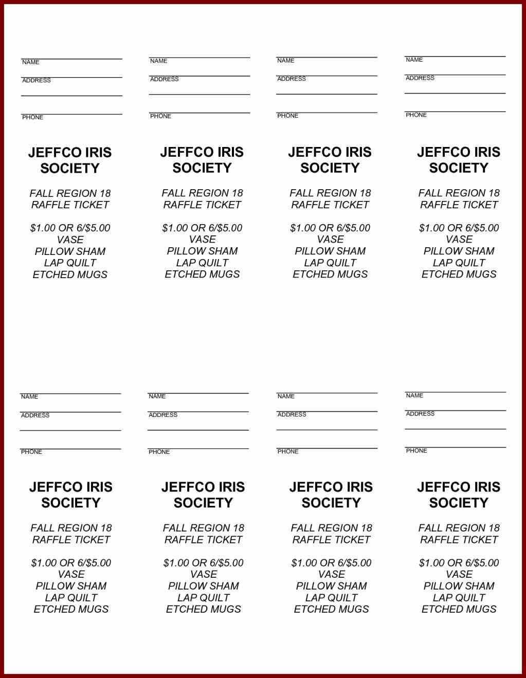 Free Printable Raffle Ticket Template Easytouse Free Raffle Ticket - Free Printable Raffle Tickets