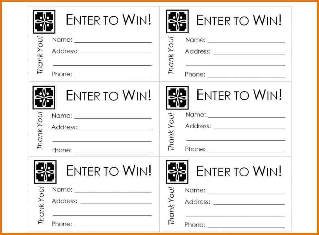 Free Printable Raffle Ticket Template Raffle Ticket Templates - Free Printable Raffle Tickets