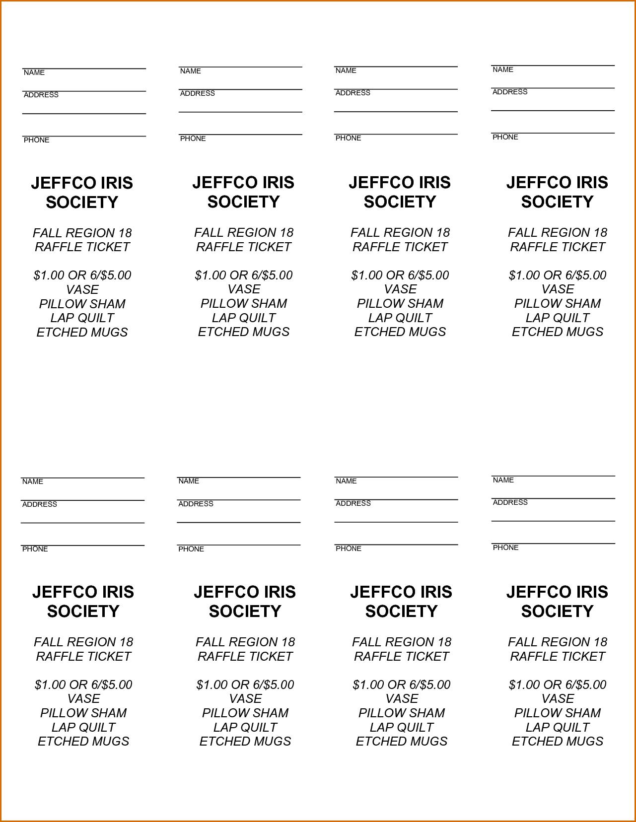 Free Printable Raffle Tickets - Free Printable Raffle Ticket - Free Printable Raffle Ticket Template