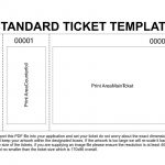 Free Printable Raffle Tickets Template | Template | Ticket Template   Free Printable Raffle Tickets