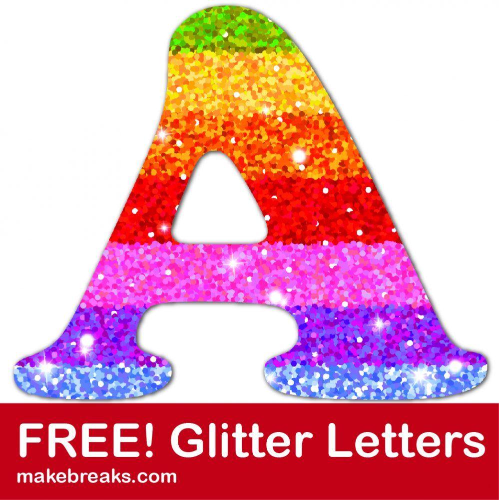 Free Printable Rainbow Glitter Letters | Free Printable Letters - Free Printable Rainbow Letters
