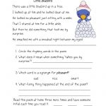 Free Printable Reading Comprehension Worksheets For Kindergarten   Free Printable Reading Comprehension Worksheets For Kindergarten
