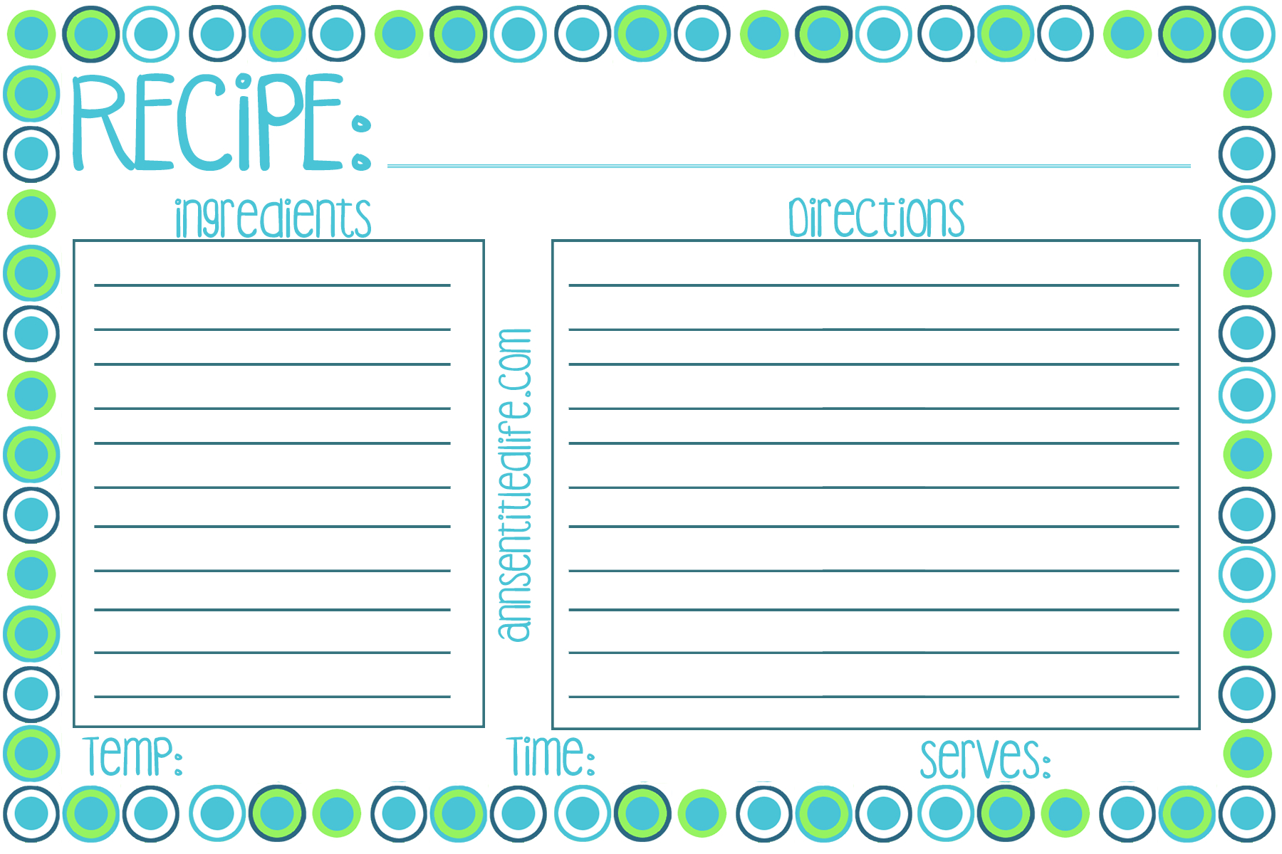 Free Printable Recipe Card, Meal Planner And Kitchen Labels - Free Printable Recipe Cards