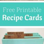 Free Printable Recipe Cards | Share Your Craft | Pinterest   Free Printable Recipe Dividers