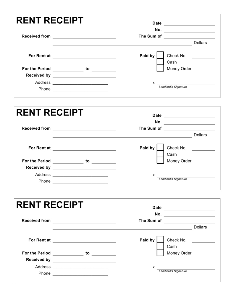 Free Printable Rent Receipt & Complete Guide Example - Zasvobodu - Free Printable Rent Receipt