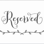 Free Printable Reserved Table Signs Template Elegant   Classy World   Free Printable Reserved Table Signs
