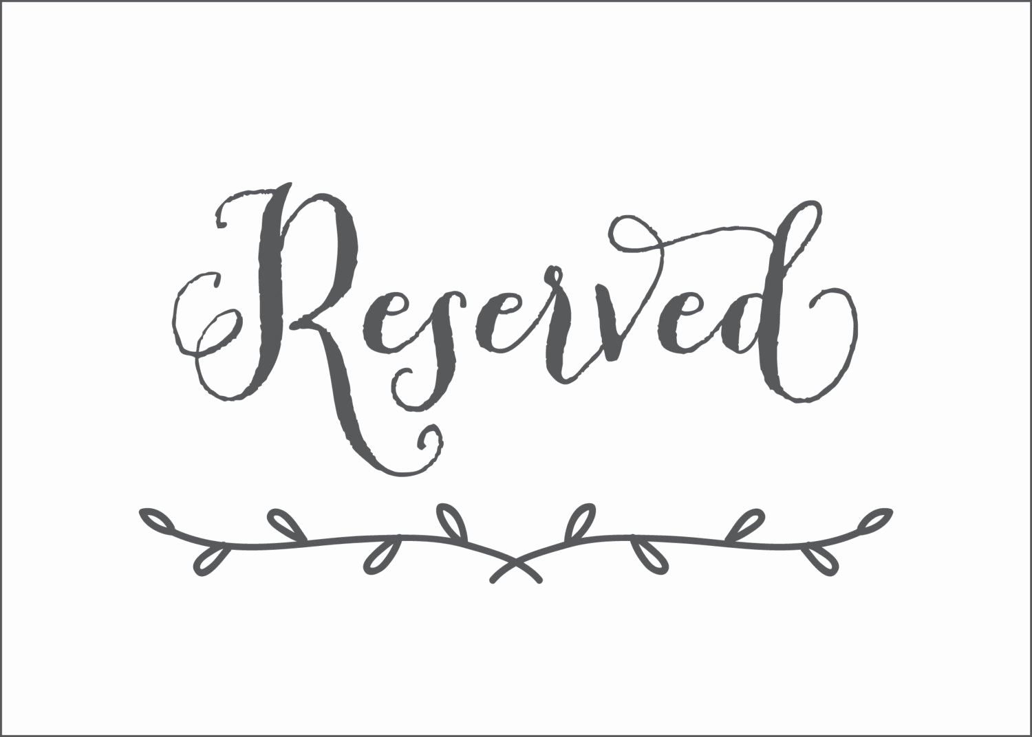 Free Printable Reserved Table Signs Template Elegant - Classy World - Free Printable Reserved Table Signs