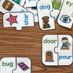 Free Printable Rhyming Puzzles   I ♥ Kindergarten   Pinterest   Free Printable Rhyming Activities For Kindergarten