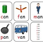 Free Printable Rhyming Words Flash Cards ' An'   Free Printable For   Free Printable Rhyming Words Flash Cards
