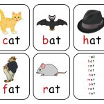 Free Printable Rhyming Words Flash Cards ' At'   Free Printable For   Free Printable Rhyming Words Flash Cards
