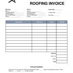 Free Printable Roofing Invoice Form   15.10.hus Noorderpad.de •   Free Bill Invoice Template Printable