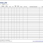 Free Printable Running Log Or Walking Log Template For Excel Within   Free Printable Walking Log