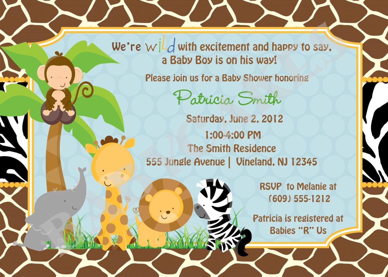 Free Printable Safari Baby Shower Invitations Safari Ba Shower - Free Printable Zebra Baby Shower Invitations