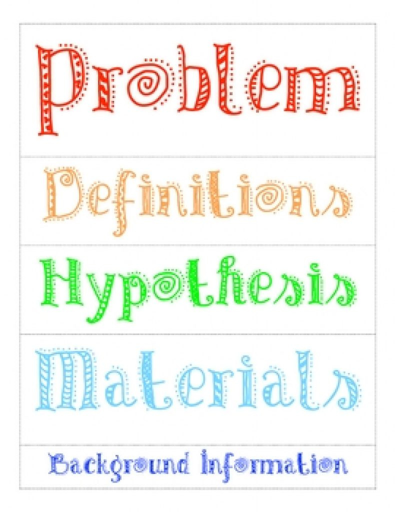 Free Printable Science Fair Project Board Labels   Free Printable - Free Printable Science Fair Project Board Labels