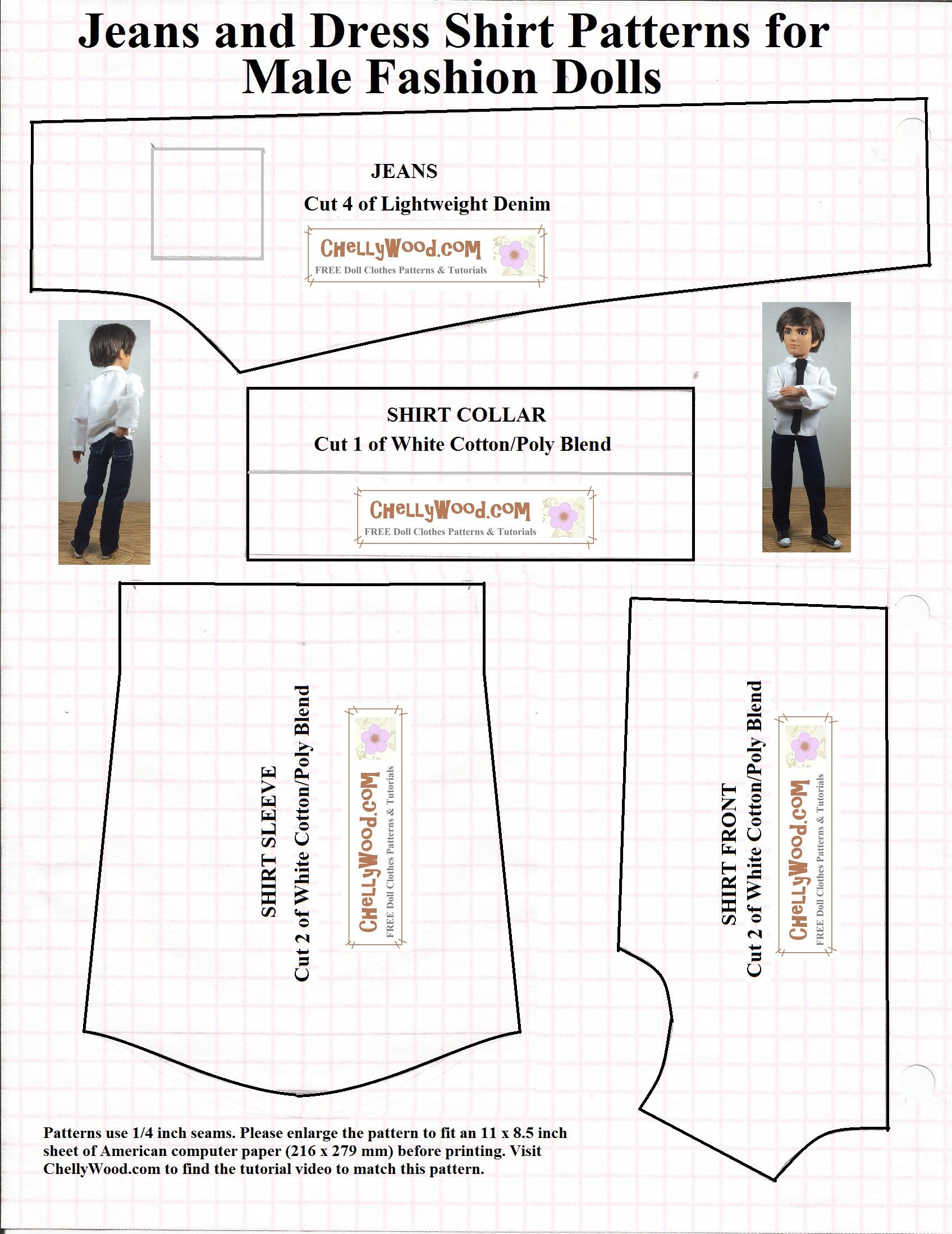 Free Printable #sewing Patterns For Ken #dolls' #clothes - Ken Clothes Patterns Free Printable