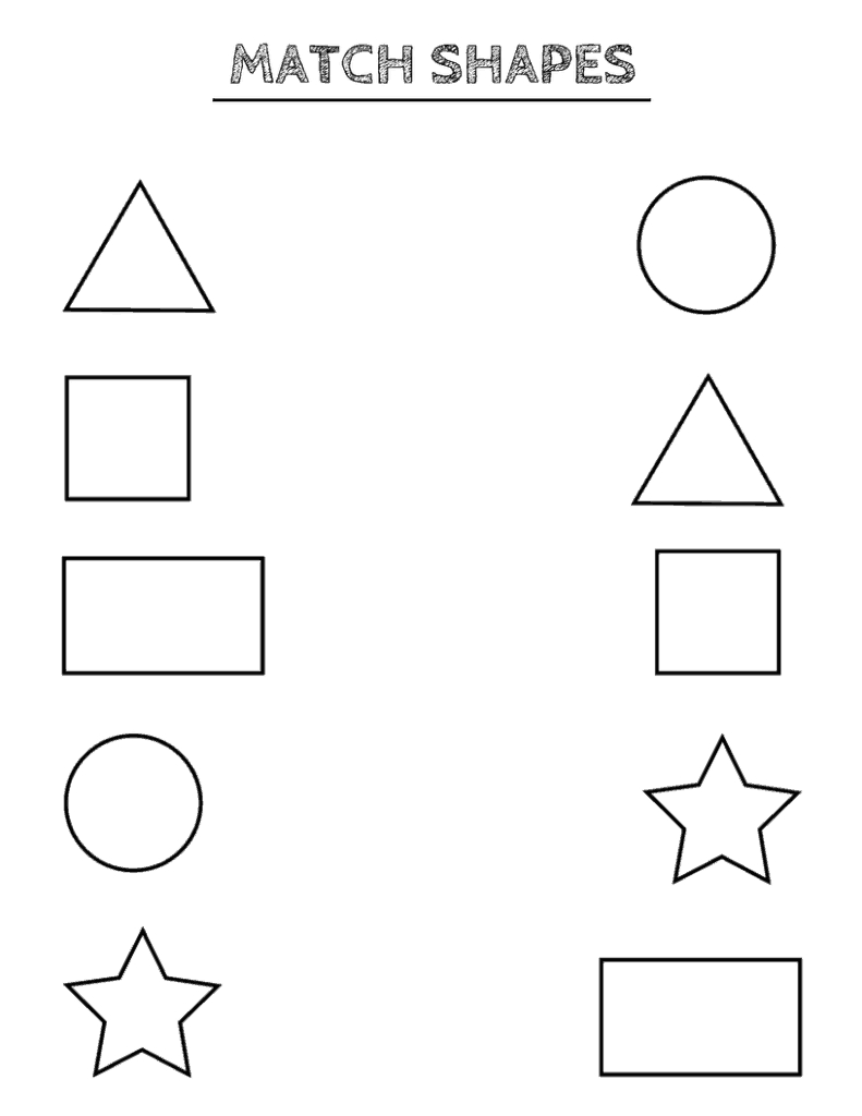 Free Printable Shapes Worksheets For Toddlers And Preschoolers - Large Printable Shapes Free