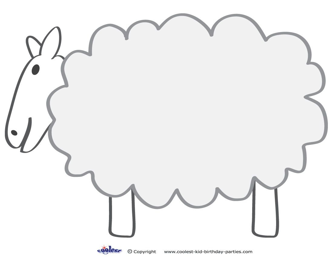 Free Printable Sheep Template | Colors And Things | Pinterest - Free Printable Pictures Of Sheep