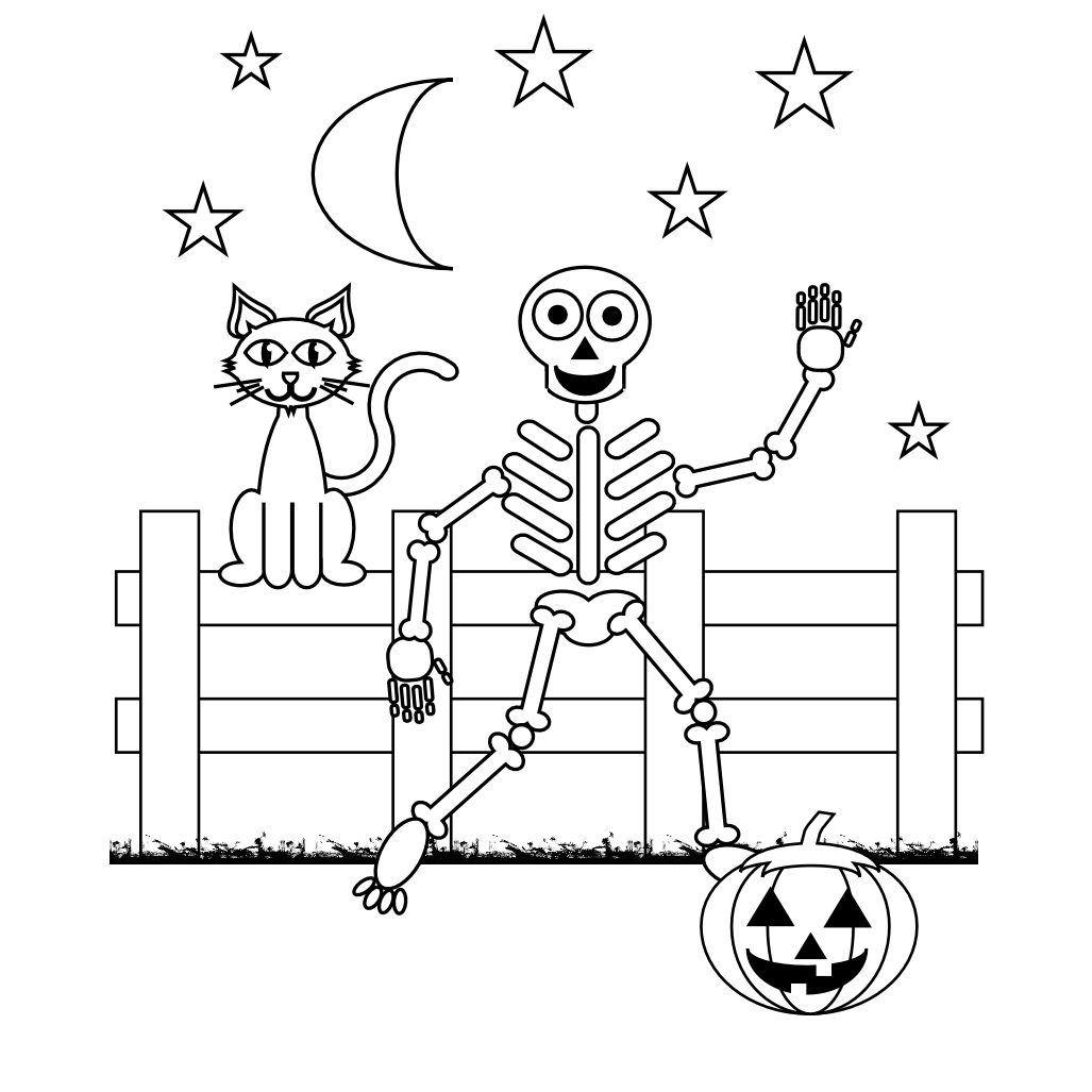 Free Printable Skeleton Coloring Pages For Kids   Halloween - Free Printable Skeleton Coloring Pages