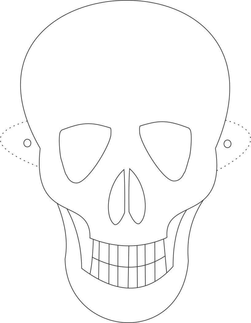 Free Printable Skeleton Masks   Tøj Mm. // Clothes & Accessorize - Free Printable Halloween Face Masks