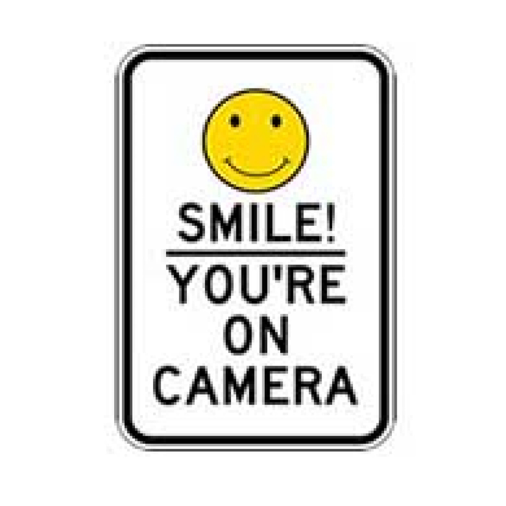 Free Printable Smile Your On Camera Sign | Free Printable - Free Printable Smile Your On Camera