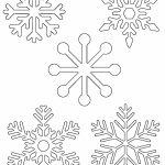 Free Printable Snowflake Templates – Large & Small Stencil Patterns   Free Printable Lace Stencil