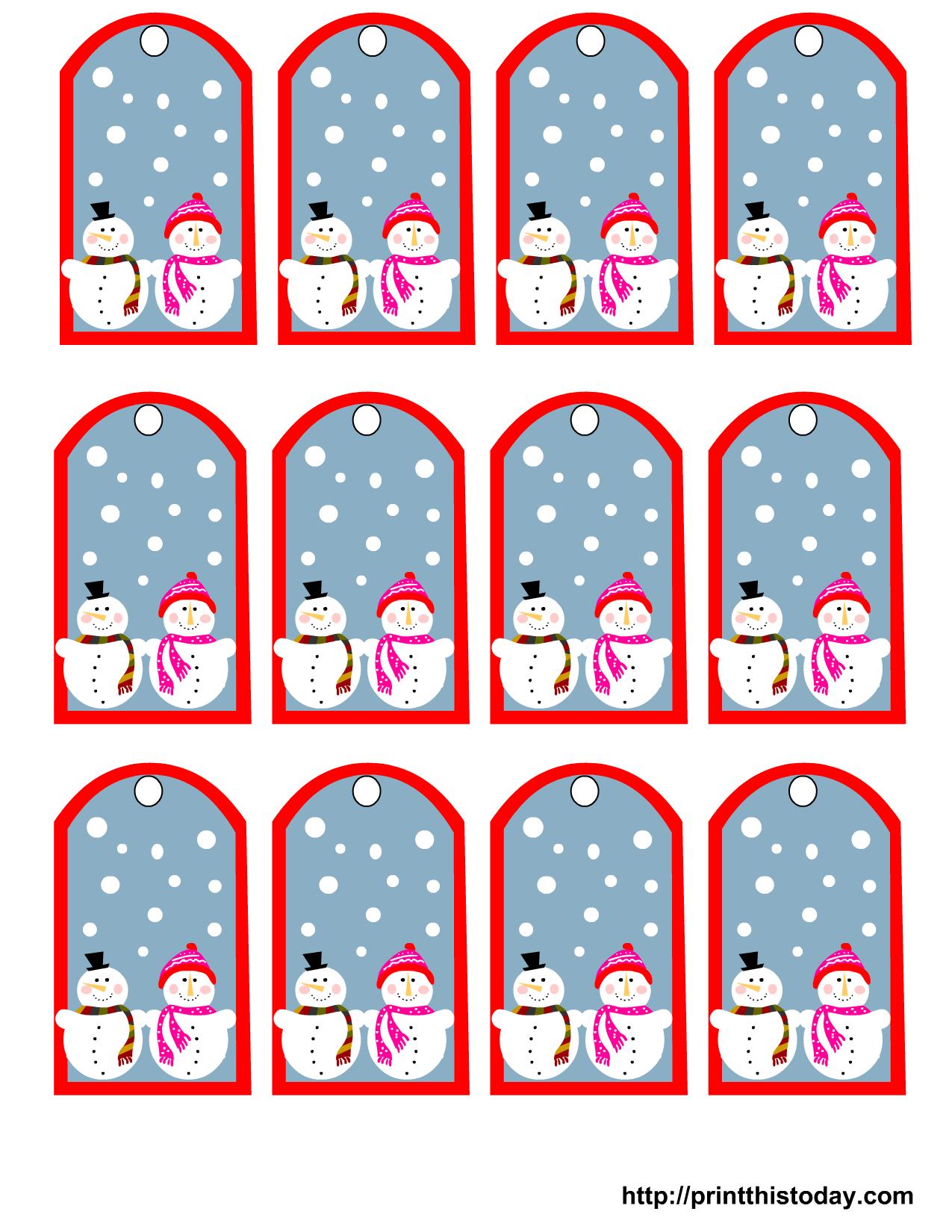 Free Printable Snowman Christmas Gift Tags - Free Printable Toe Tags