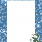 Free Printable Snowman Stationery   Zumrutuanka For Free Printable   Free Printable Snowman Stationery