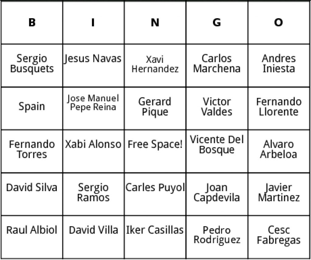 Free Printable Spanish Bingo Cards | Free Printable - Free Printable Spanish Bingo Cards