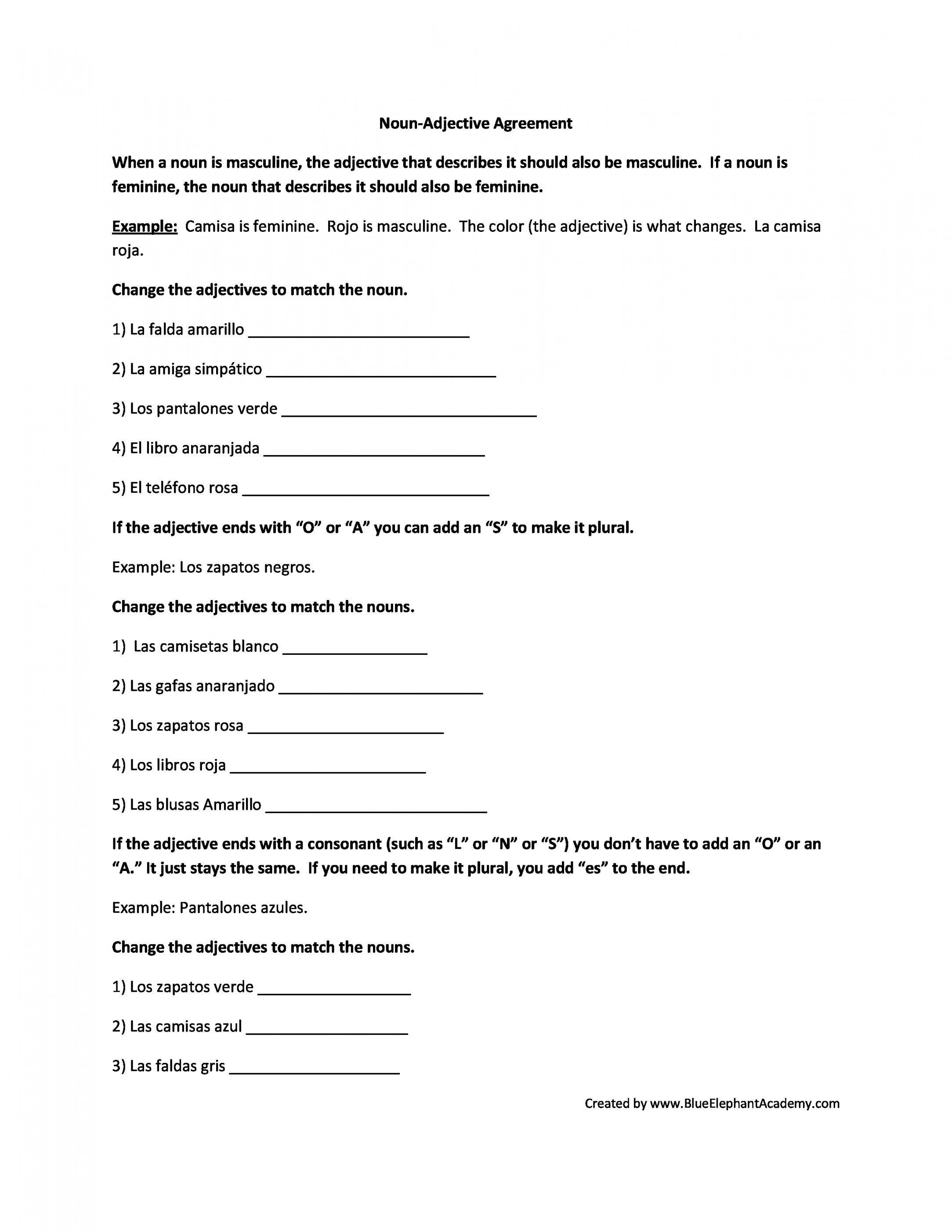 Free Printable Spanish Worksheets For Beginners | Lostranquillos - Free Printable Spanish Worksheets