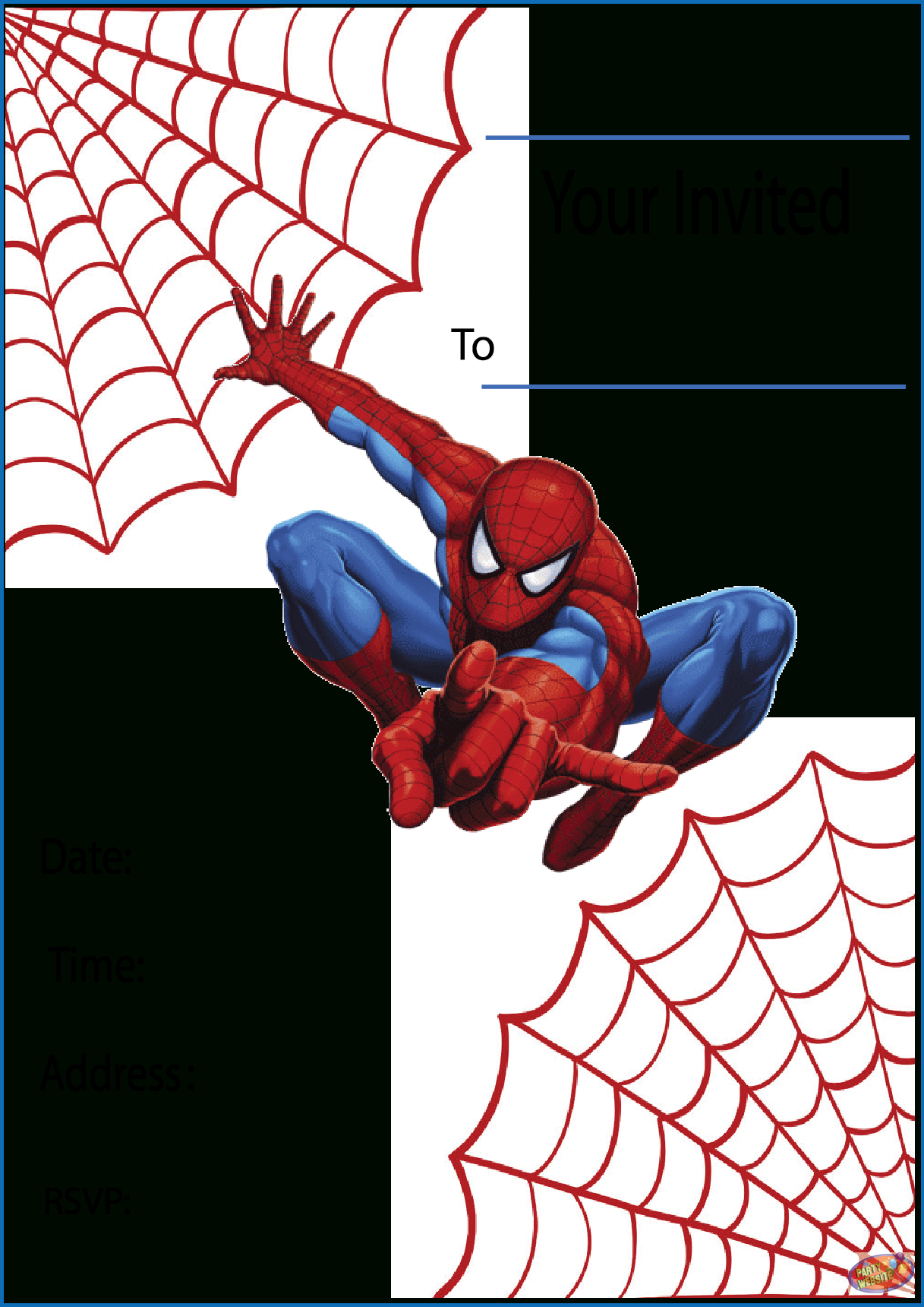 Free Printable Spiderman Party Invitations On Www.thepartywebsite - Free Printable Spiderman Pictures