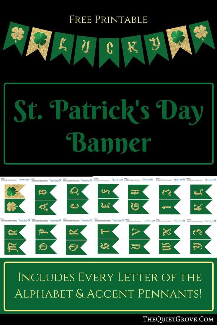 Free Printable St Patrick's Day Banner | Saint Patrick's Day Ideas - Free Printable St Patrick's Day Banner