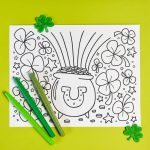 Free Printable St. Patrick's Day Coloring Page   Hey, Let's Make Stuff   Free Printable Saint Patrick Coloring Pages