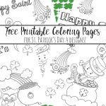 Free Printable St. Patrick's Day Coloring Pages: 4 Designs!   Free Printable Saint Patrick Coloring Pages