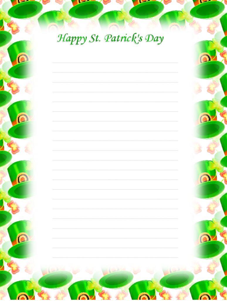Free Printable St Patricks Day Stationery | Free Printable - Free Printable St Patricks Day Stationery
