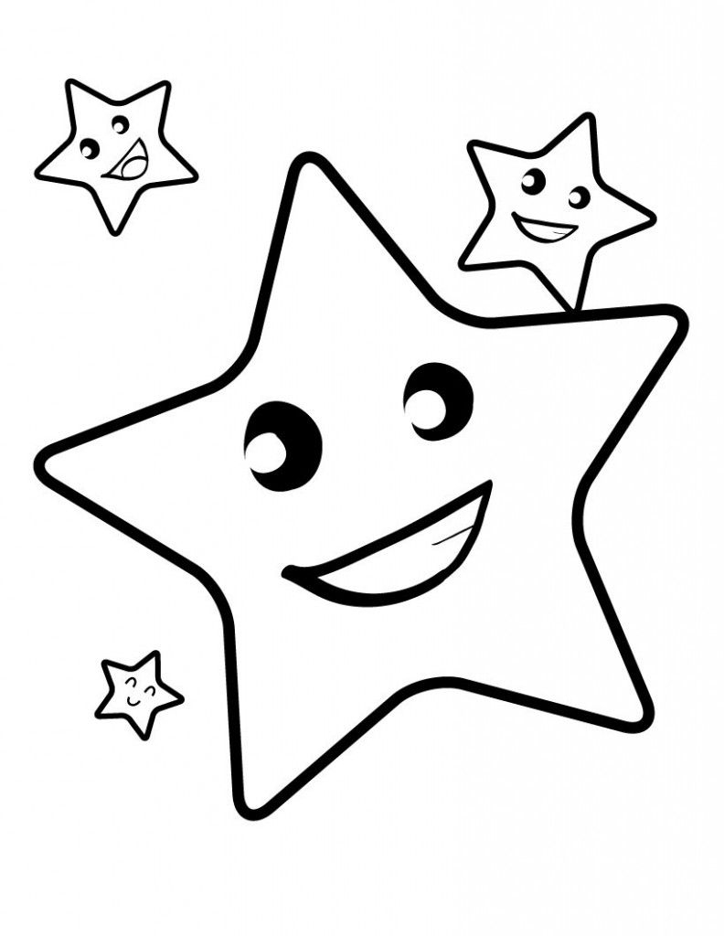 Free Printable Star Coloring Pages For Kids | Birthday | Pinterest - Free Printable Coloring Pages For Toddlers